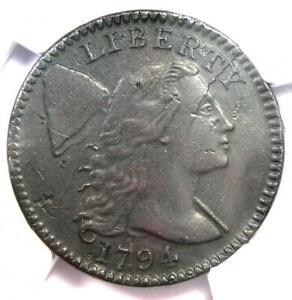 1794 Liberty Cap Large Cent 1C Coin S-70 Head of 1795 - Certified NGC AU Details