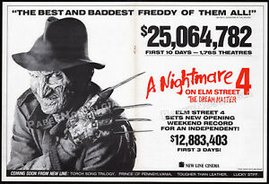 A-NIGHTMARE-ON-ELM-STREET-4-Orig-1988-box-office-Trade-AD-poster-Dream-Master