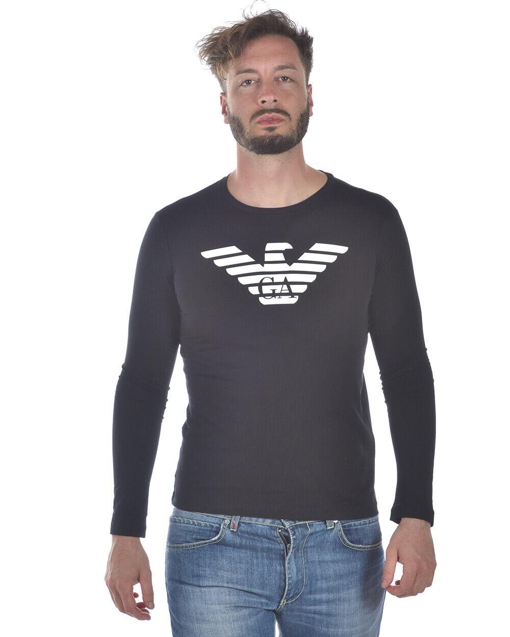 Emporio ARMANI Camiseta Sudadera Hombre Negro  8 n 1 T 641 jpzz 999 SZ. M poner Oferta  solo cómpralo