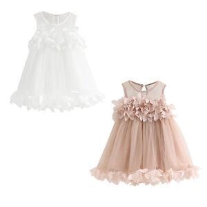 Ninas-Princesa-Vestido-Concurso-De-Belleza-Sin-Mangas-Estampado-Dulce-Encaje