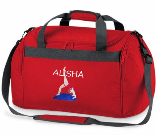 Personalised Gymnastics Holdall Bag Embroidered Name Gymast Gym Bag