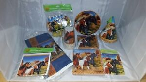 Horse-Equine-Party-in-a-box-for-8-Hats-plates-cups-and-much-more-NOS