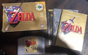 Legend-Of-Zelda-Ocarina-Of-Time-N64-Nintendo-64-Complete-W-box-amp-Manual