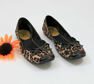 Sam-amp-Libby-Leopard-Print-Brown-amp-Black-Slip-On-Flats-US-7M-C003