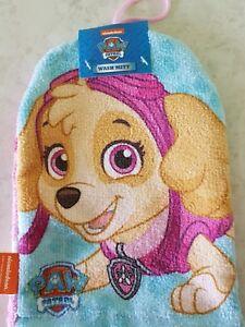 Disney-Princess-amp-Paw-Patrol-amp-Marvel-Flannel-Face-Cloth-Mitt-Really-Soft