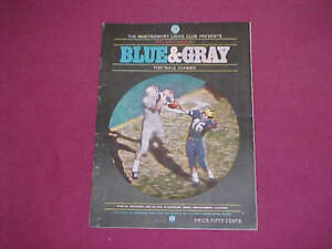 BLUE and & GRAY All Star Football Program - 1967