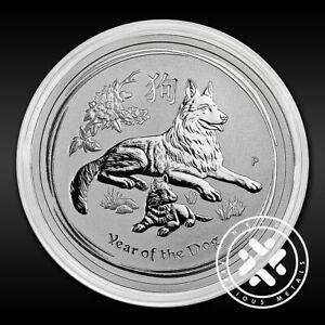 2006 Australia 1 oz Year of the Dog Lunar Series I Silver Coin BU in Capsule