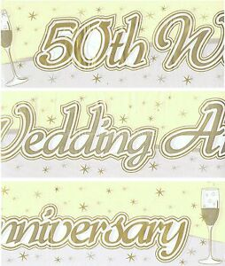 50TH-GOLDEN-WEDDING-ANNIVERSARY-BANNERS-PACK-WALL-DECORATIONS-EW-96