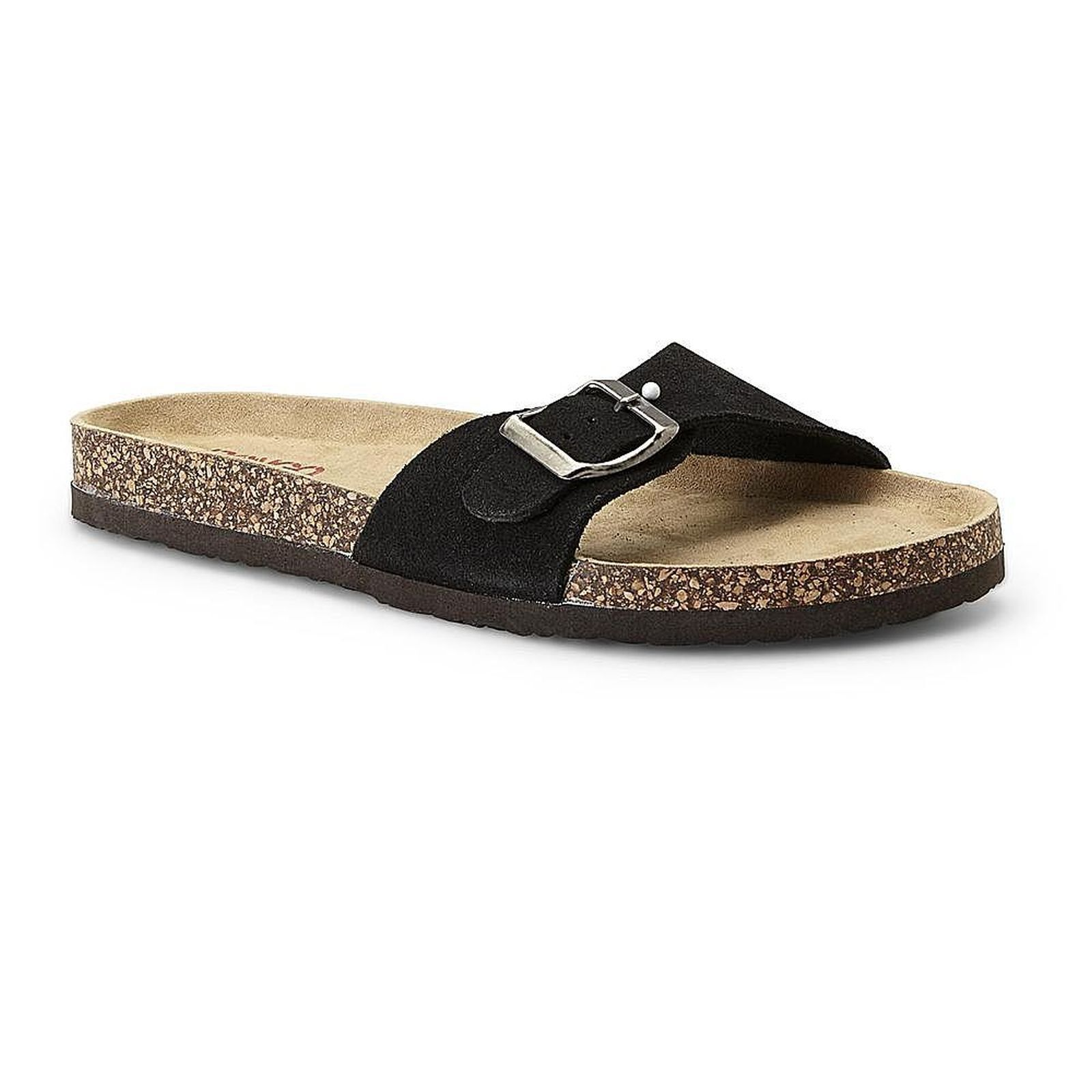 New! Strapped Womens Suede Strapped New! Slide Sandal-Black KL 199A-E d66c8b