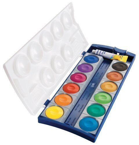 Pelikan Deckfarbkasten K12 12 Farben 1 Tube Deckweiß Schul-Standard 720250