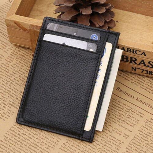 New Holder Cash Business Men/'s Mini Men Wallet Leather Card Bag Money Clip