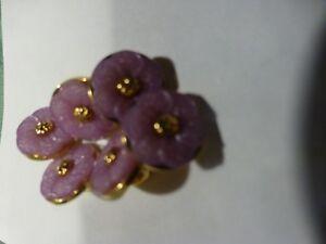 lot-neufs-6jolis-boutons-parme-clair-fleurs-mercerie-ancienne-layette-poupee