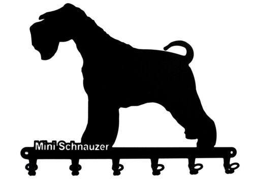 Mini Schnauzer Zwergschnauzer design Hunde Hakenleiste Schlüsselbrett