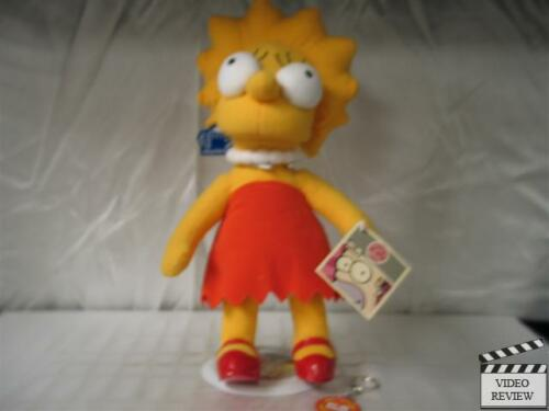 Lisa Simpson 12 inch plush doll The Simpsons; Applause; stand; keychain