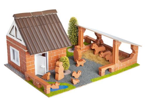 Teifoc Farm Building Brick Set Construction Toy Real Brick /& Mortar TEI 4600