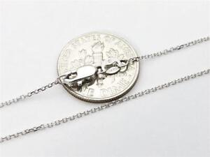 10K-18-034-Solid-White-Gold-Thin-Dainty-CABLE-Link-Necklace-Chain-8mm-10K-Gold