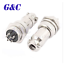 16mm Male /& Female panel Metal Connector Aviation Plug GX16-6 6pin AC1200V