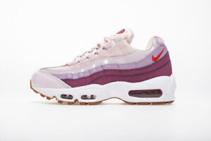 Details about Women's Nike Air Max 95 BARELY ROSE HOT PUNCH PINK GREY WHITE GUM 307960 603