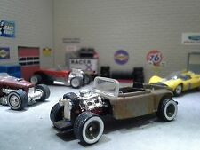 """1/64 Scale Custom Rat Rod 29 Ford Convertible Pickup """"Rusted Rat Rod"""""""