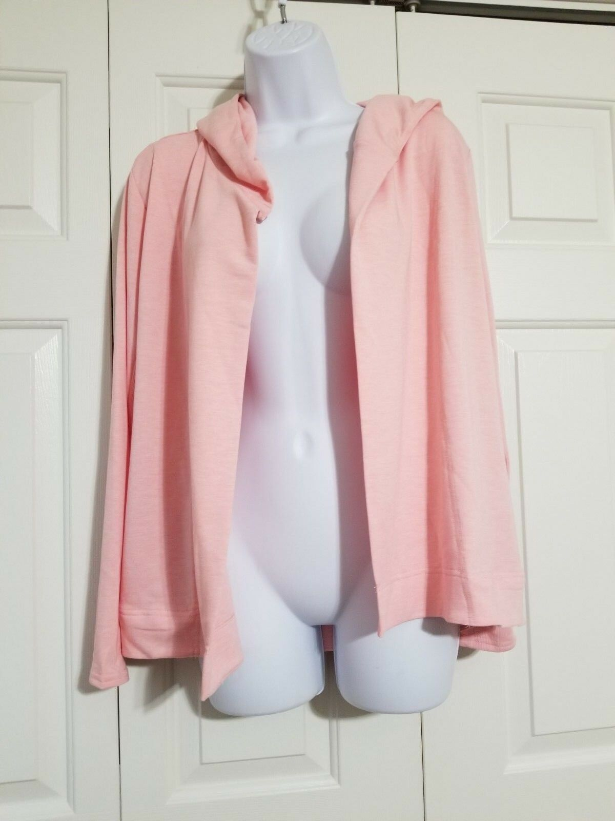 Victoria's Secret Soft Terry Lounge Open Front Hooded Cardigan Pink Size XS