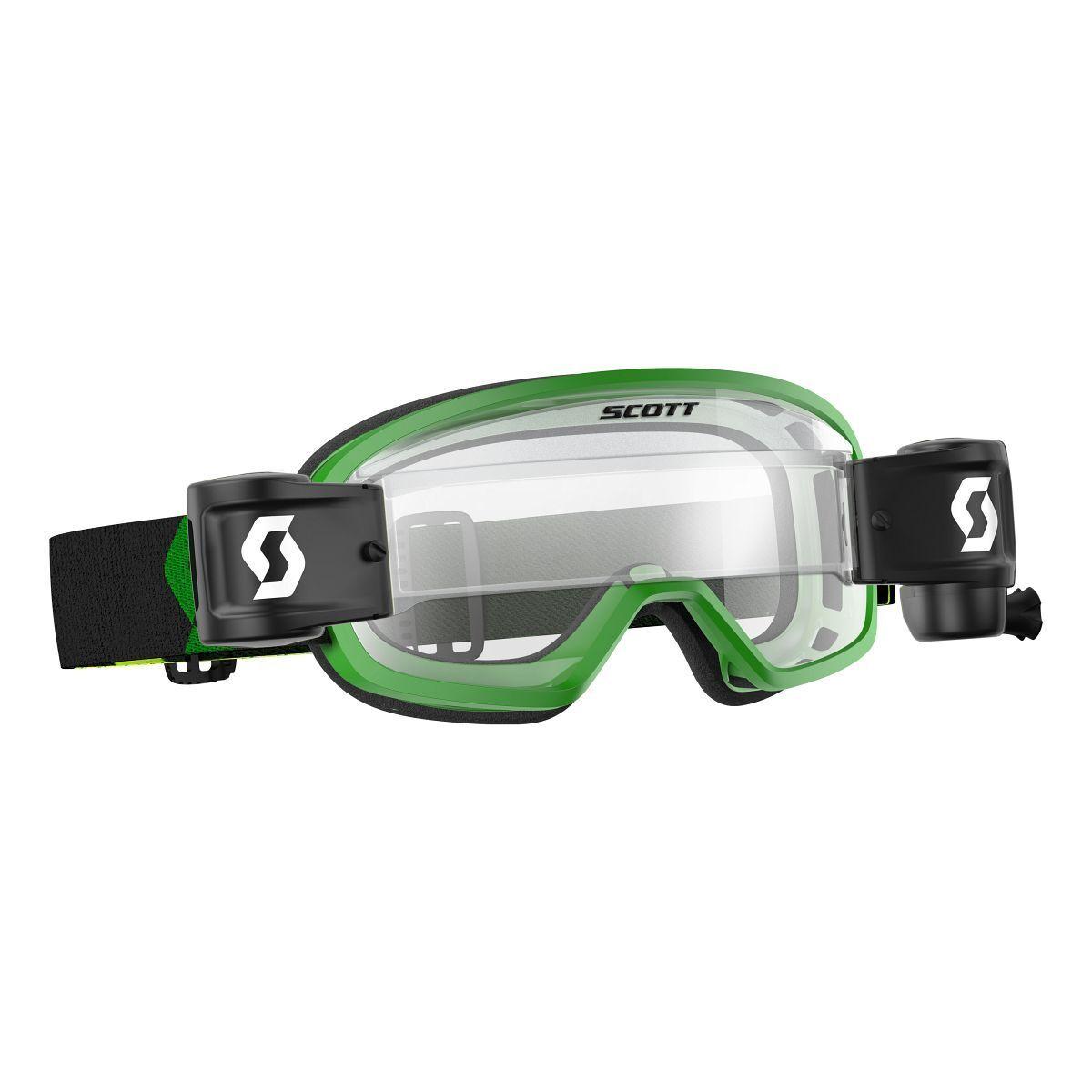 Scott Buzz Pro WFS Kinder MX Goggle Cross MTB Brille green klar works