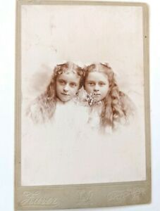 Vintage-Antique-Photo-Print-Two-Little-Girl-Pic-Pittsburgh