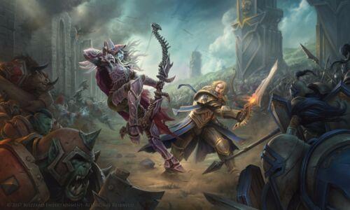Poster 42x24 cm World of Warcraf Battle for Azeroth Blizzard Anduin Sylvanas 01
