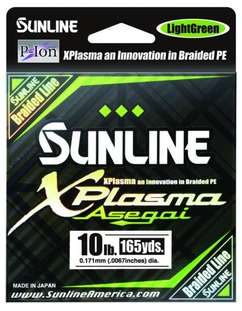 5127 Sunline Asegai Xplasma Braided Linie 165yds P.E 1.5 16lb Dark Green