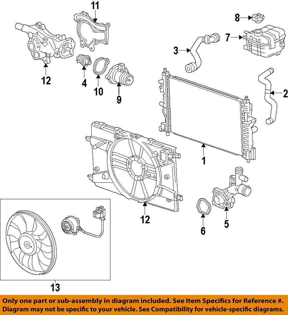Chevy Cruze Heater Hose Diagram Chevrolet Oem Radiator Coolant Lower Ebay 976x1068