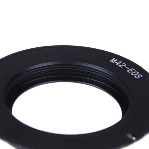 Aluminum M42 Chips Screw Lens To EOS EF Mount Ring Adapter AF III Confirm JbP0HK