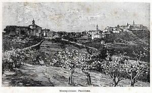 Montepulciano-Panorama-Capolavoro-Siena-Stampa-Antica-Passepartout-1901