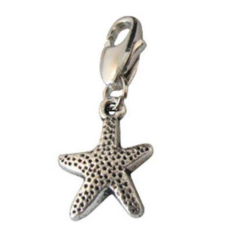 25PCS Tibetan Silver Starfish clip on Charms W28506