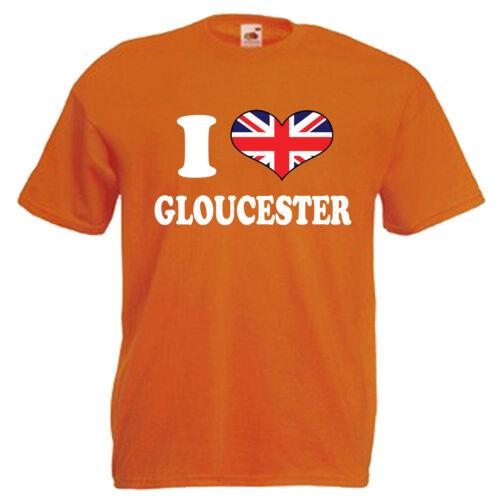 I Love Heart Gloucester Children/'s Kids Childs T Shirt