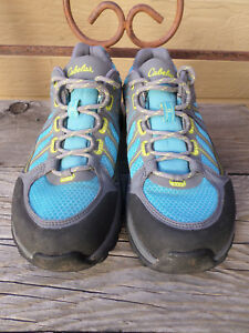 Cabela-039-s-XPG-Blue-Gray-Gore-Tex-Vibram-Hiking-Shoes-Women-039-s-8-5-M