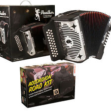 Hohner Panther FBE Button FA Acordeon + Accordion Road Kit_GigBag_Straps_T-Shirt