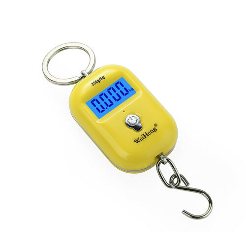 Electronic Hanging Scale Digital LCD Handheld Hooks Luggage Weight Tool 25KG