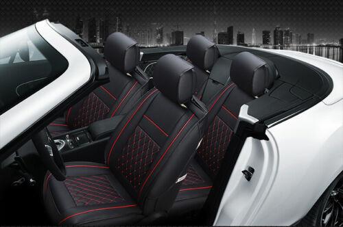 Housse de siège auto voiture 10 pièces Rouge Universelle simili cuir de qualité