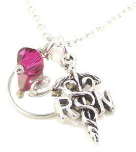 Customized-RN-Necklace-with-Swarovski-Birthstone-Initial-Personalized-Nurse-Gift
