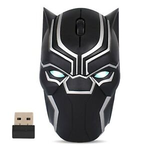 Cool Design Wireless Gaming Mouse Iron Man Black Panther Star Lord Ant Man Tr...