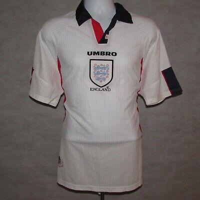 1997-1999 Inghilterra Calcio Casa Maglietta, Umbro, Xl (ottime Condizioni)-