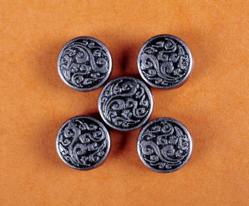 50PC 10MM Silver Floral Engraved Conchos Handcraft Stud Rivet Tacks Decorative