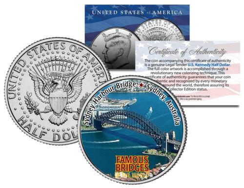 JFK Half Dollar U.S Famous Bridges SYDNEY HARBOUR BRIDGE Coin Australia