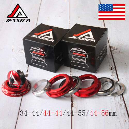 """JESSICA 34//44//44-55//44-56mm Bicycle AL Headsets For 1-1//8/"""" Threadless Fork Tube"""