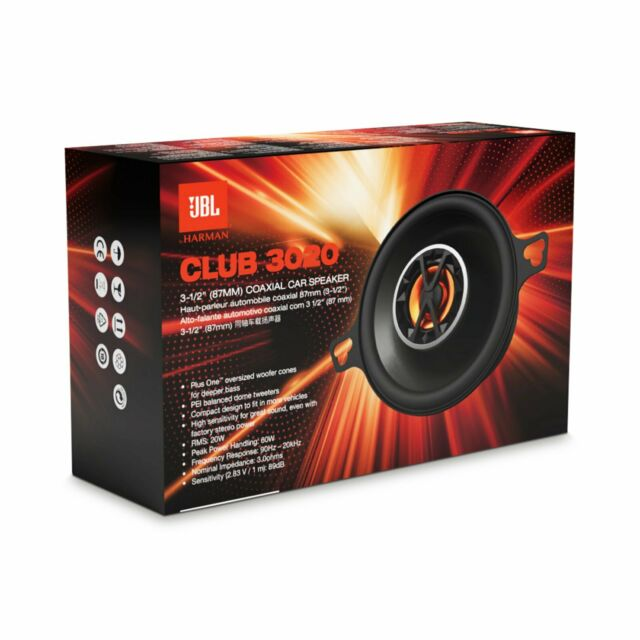 Coaxial Speakers Home & Garden JBL CLUB3020 3.5 2-Way Coaxial ...