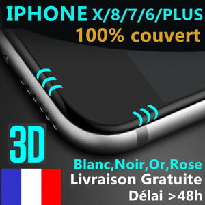 iPhone-6S-6-7-Plus-8-X-VITRE-EN-VERRE-TREMPE-3D-Film-Protection-Ecran-Integral