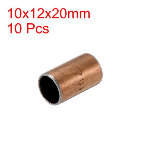 Lubricating Plain Oilless Bearing Sleeve Composite Bushings 10mm Bore Self