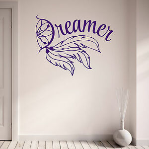 Image Is Loading Dreamer Dream Catcher Teenagers Bedroom Living Room Vinyl  Part 84