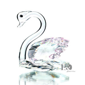 H-amp-D-Crystal-Swan-Figurines-Animal-Paperweight-Home-Decor-Wedding-Souvenirs-Gift