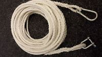 70FT OF NEW 8MM ROPE ANCHOR BOAT MOORING WITH SNAP HOOK & SHACKLE