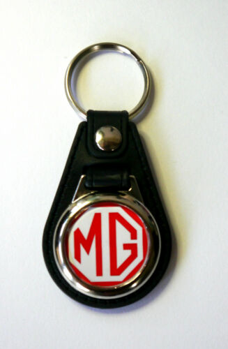MG Keyring MGA MGB TF TC TF MIDGET Red Logo